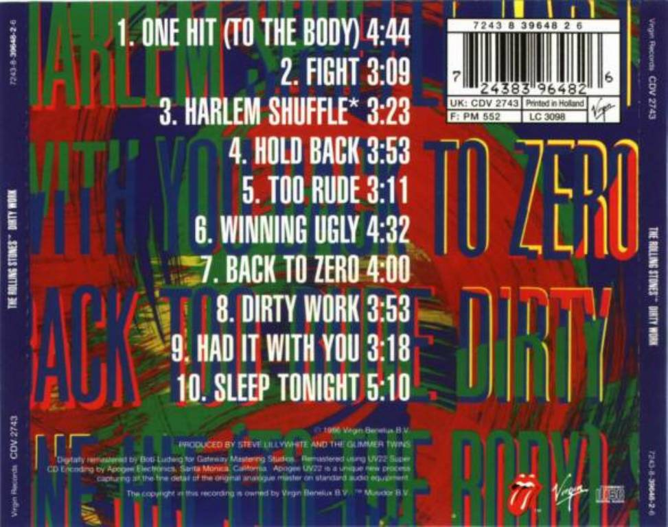 Rolling stones dirty work  Rolling Stones*  2019-07-10